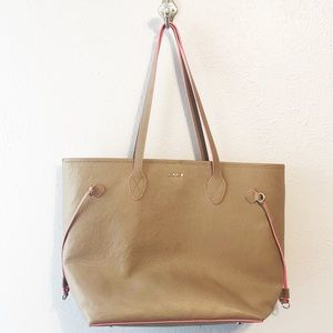 Lodis pebbled leather large tote